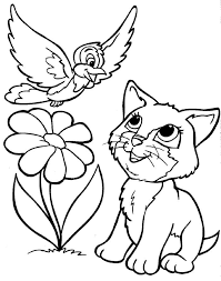 Print cat coloring pages for free and color our cat coloring! Kitten And Puppy Coloring Pages To Print Coloring Home