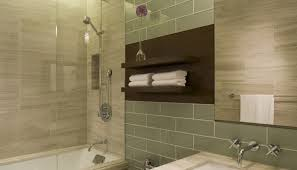 spa towel storage. Picture Of Minimalist Wall Shelves Over Toilet Seat In Spa Like Towel Storage