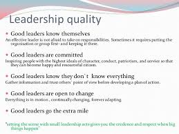 quality of a leader essay main characteristics of leadership in  essay writing tips to quality of a leader essay qualities of a good leader essay pros