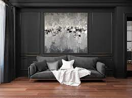 extra large wall art canvas black and