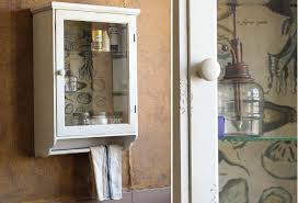 vintage medicine cabinet glass door wall cabinet