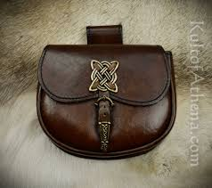 celtic leather belt pouch