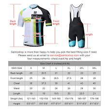 Cycling Jersey Size Chart Santic Shark 5 Men Cycling Jersey Set Short