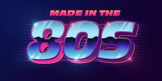 80 s style text effect psd