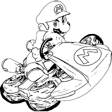 Small Picture Mario kart 8 coloring pages super mario ColoringStar