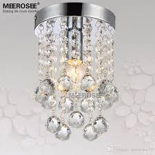 small crystal chandelier light fixture 1 light clear crystal re lamp for aisle stair hallway corridor porch bathroom restaurant exterior pendant light