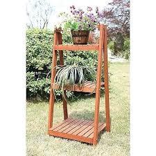 3 tier plant stand outdoor 3 tier wood plant stand slatted ladder indoor outdoor flower herbs