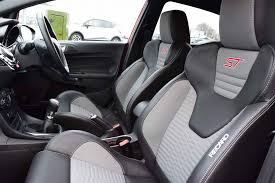 cloth leather recaro seats featured in the ford fiesta st 2 and st 3