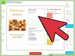 Booklet Word Template How To Make A Booklet In Word 12 Steps With Pictures Wikihow