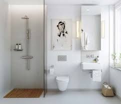 Unique Modern Wall Hanging For Small Space Using Scandinavian Bathroom  Shower Ideas With White Wall Color And Contemporary Bathroom Fixtures