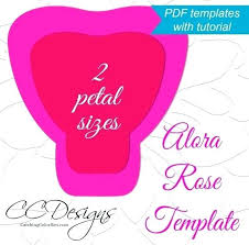Giant Paper Flower Template Pdf Peony Flower Petal Template Paper Rose Pdf