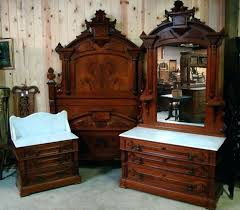 Antique Bedroom Sets For Sale Great 3 Piece Walnut Marble Top Set ...