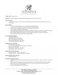 Resume For Server Job Resumes Server Description For Resume Catering Cook Example 12