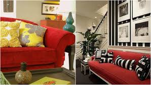 Living Room With Red Oronovelo Red Couch Living Room Inspiration