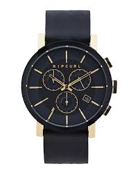 beacon chrono gold leather watch men s watches surf style watches for men rip curl australia
