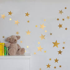 gold stars wall art