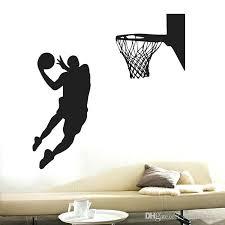 sports wall art shoot at the basket wall art mural decor home decoration wallpaper decal sticker