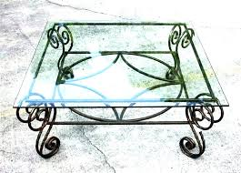 wrought iron end tables with glass tops iron glass coffee table wrought iron coffee table glass