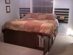 king storage bed plans. Decorating Extraordinary King Frame With Storage 9 Diy Size Bed Multi Purpose Design Idea California Plans