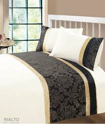 black gold colour modern stylish damask bedding quality duvet quilt cover set 6448 p jpg