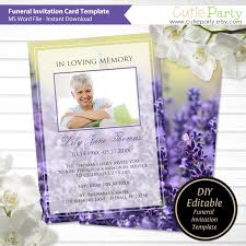 Funeral Invitation Template New Funeral Announcement Template Printable Funeral Invitation Etsy