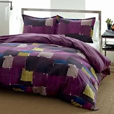 city scene color block bedding set duvet covers