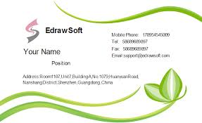 visting card format abstract green business card template