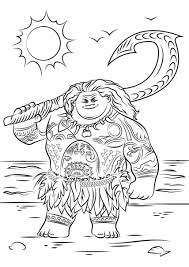 Printable Moana Coloring Pages 24 For Boys Free Printable Coloring