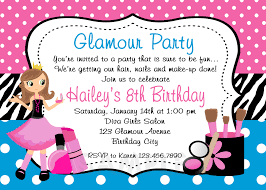 Print Birthday Invitation Glamour Party Invitations Pink Turquoise
