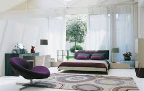 Single Chair For Bedroom Bedroom Bedroom Cool Bedroom With Cozy Bed Plus Chic Purple