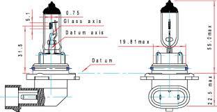9006 hb4 hella high performance xenon blue v 2 0 bulb pair 9006 hb4 dimension