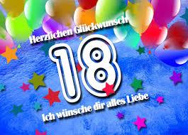 Glückwünsche Zum 18 Geburtstag