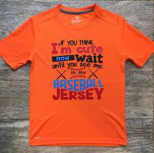Youth Baseball Shirt If You Think Im Cute Shirt Kids