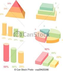 Isometric 3d Vector Charts Layers Graphs And Pyramid Diagram Infographic Presentation Design Data Finance Vector Illustration