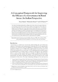 a conceptual framework for improving the efficacy of e governance in