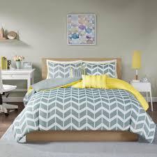 laila 5 piece yellow king california king geometric duvet cover set