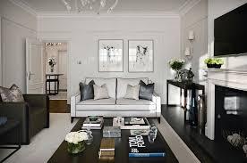 Plaseant white small formal living room