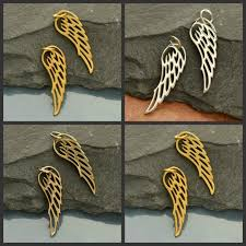 angel wing charms small c696 4 styles