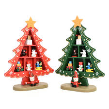 DIY Cartoon Wooden Artificial Christmas Tree Decorations Wood Mini  Christmas Trees Table Decoration