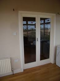 made to measure internal doors for office full glazed scandinavian redwood primed and painted
