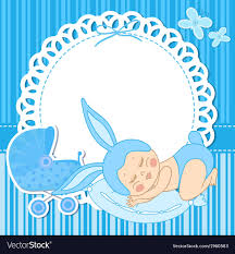 Card For Baby Boy Card With Baby Boy Born In Bunny Costume