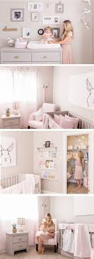 pink and gold baby wall decor