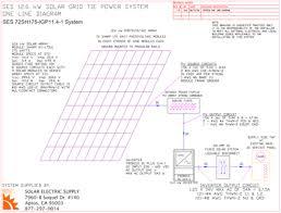 rec 9 6 kw grid tie solar system using rec 240pe modules schematics site plans