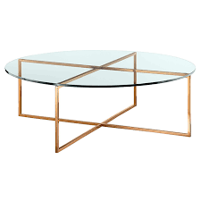 elle luxe round coffee table in glass