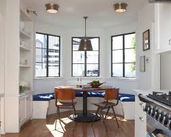 Transitional Eat In Kitchen Idea In Los Angeles With White Cabinets And  Stainless Steel Appliances