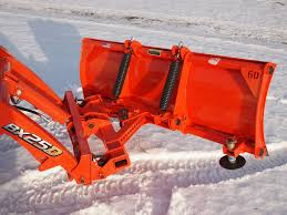kubota bx quick attach loader mounted snow plow attachment