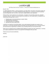 Example Cover Letter For First Job Leading Professional Police Officer Cover Letter Examples