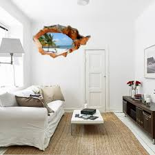 wall art stickers home decor w02 jpg w03 jpg  on wall art images home decor with 3d beach wall decals 38 inch removable sea wall art stickers home