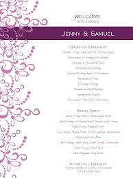 program template for wedding ornate winter wedding program