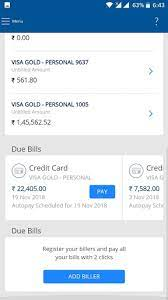 how to pay hdfc credit card unbilled amount